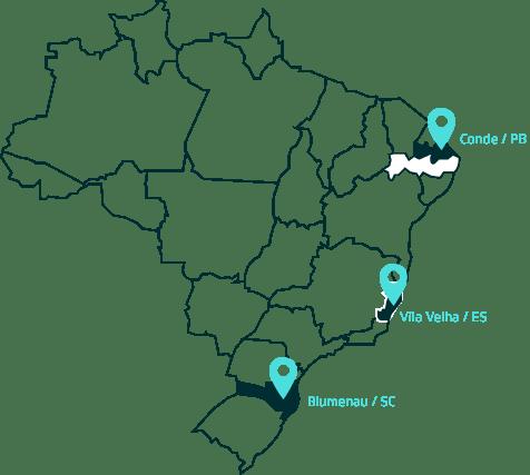 Mapa Centros de Distribuição
