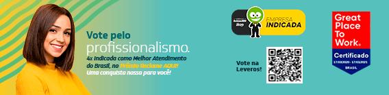 A Leveros foi indicada pela 4x ao Prêmio Reclame Aqui. Vote Leveros!